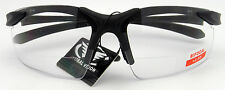 Apex Clear Bi Focal 2.5x Safety Glasses Clear Lens BlackFrame Z87.1 #AVAPEX25CL