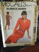 Vintage McCall's 7971 Misses Dress Pattern - Size 14 Bust 36