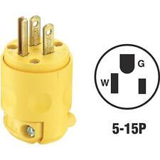 100 Pk Leviton NEMA 5-15P Residential 3 Wire 15 Amp Electric Cord Plug 000-515PV
