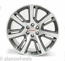 "4 NEW GMC Sierra Yukon Denali Gunmetal Machined Face 24"" Wheels Rims Lugs 4738"