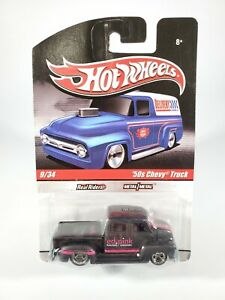 2009 Hot Wheels Delivery Slick Rides '50s Chevy Truck Ed.Pink Real Riders NEW