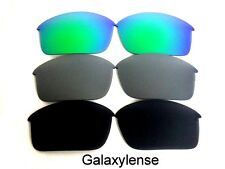 Galaxy Replacement Lenses For Oakley Bottle Rocket Black&Titanium&Green 3Pair