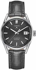 WAR211C.FC6336 Tag Heuer Carrera CAL5 Mens Anthracite dial/alligator 39mm Watch