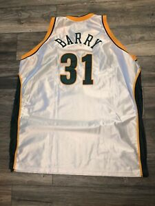 New Authentic Reebok Seattle Supersonics Brent Barry Jersey Pro Cut on Court