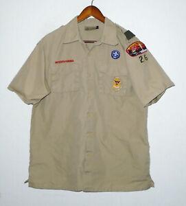 BOY SCOUTS Of America POPLIN Uniform Shirt BSA #26 Adult Scout Mens : MEDIUM Md