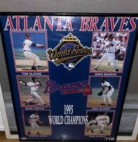Atlanta Braves 1995 World Series Champions Framed Poster Starline MLB Vintage
