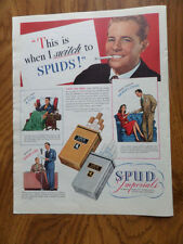 1943 Spud Imperials Cigarettes Ad this is when I Switch to Spuds!