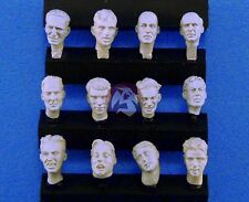 Legend 1/35 Generic Assorted Soldier Civilian Figure Heads Set (12 heads) LF0111