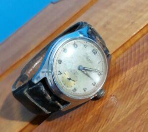 Rare Kasta 15 Rubis wristwatch German MILITARY Trenchwatch pilots WWII OVERWOUND