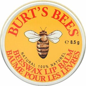 Burt's Bees 100% Natural Lip Balm Tin, Beeswax, 8.5g - FREE DELIVERY!