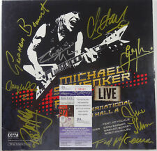 "SIGNED MICHAEL SCHENKER FEST AUTOGRAPHED LIVE 2 12"" LP CERTIFIED ALL8 JSA U58961"