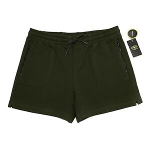 NEW Athletic Works Commuter Shorts Zipper Pockets Workout Gym Green M Stretch