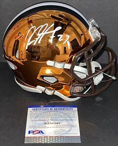 Kareem Hunt Signed Autographed Cleveland Browns Chrome Mini Helmet Psa/Dna