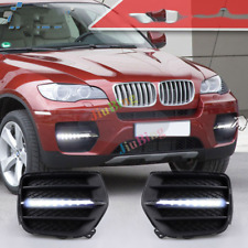 LED DRL Daytime Running Light Front Bumper Lights Refit For BMW X6 E71 2009-2013