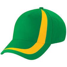 Casquette SPORT marque Beechfield Euro football nation BRESIL vert jaune