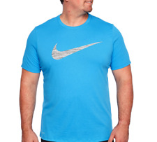 a474bfb33 Mens Nike DRI-FIT Swoosh Tee Shirt Big & Tall 839893482 Athletic Cut Blue