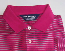 Ralph Lauren polo golf shirt L pima stripe short sleeve nwt $89 (x)