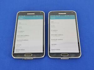Lot of 2: Samsung Galaxy S5 SM-G900P - Sprint - 16GB - Gray (F8)