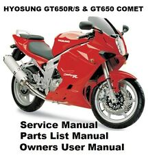 HYOSUNG GT650R Owners Workshop Service Repair Parts Manual PDF on CD-R COMET 650