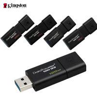 LOT OF 5 pcs Kingston 32G  USB Flash Drive BLACK USB 3.0 DT100G FAST SHIPPING