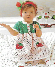 Baby/toddler strawberry themed dress knitting pattern 3mths-18mths DK 166