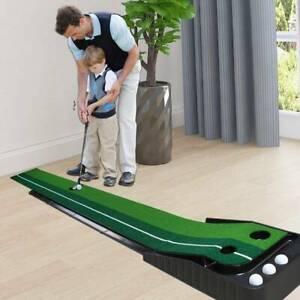 2.5m Garden Backyard Golfball Putting Practice Training Mat with Base Mount UK