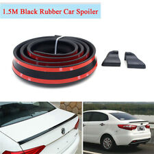 1PC 1.5m 4.9ft Black Rubber Car Styling Rear Roof Trunk Spoiler Wing Lip Sticker