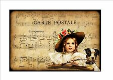 Victorian Vintage Postcard Reproduction Metal Wall Hanging Decorative Picture