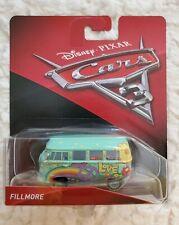 Mattel Disney Pixar Cars 3 Fillmore Volkswagen Hippie Love Peace Van Diecast