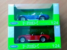 Welly Special set of 2 1965 Shelby Cobras 427SC (Blue and Red) 1/24