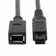 20cm IEEE 1394 6Pin Female to 1394b 9Pin male Firewire 400 to 800 Cable Black