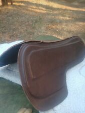 SaddleRight English glove leather orthopedic brown Saddle Pad Xlt Conditio