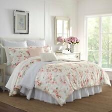 Laura Ashley Wisteria Comforter Set, Full/Queen, Pink