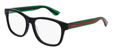 *NEW AUTHENTIC* GUCCI GG0004O 002 BLACK GREEN EYEGLASS FRAME, SIZE 53mm