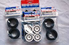 TAMIYA 1/10 RC CAR TIRE(51427)+WHEEL(51394)+Hard Inner SET for M-Chassis (RALLY)