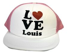 Womens Love Louis Tomlinson 1D One Direction Mesh Trucker Baseball Hat Cap New