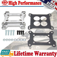 Universal Aluminum Carb Carburetor Adapter Plate Kit 4-Bolt Intake Gaskets Studs