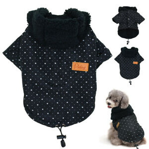 Dog Winter Clothes Small Puppy Coat Warm Fleece Padded Jacket for Chihuahua S-XL
