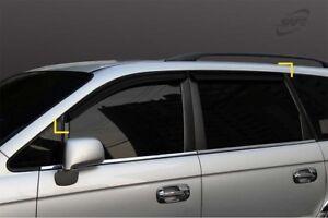 SAFE Smoke Tinted Weather Shields 4pcs for 1999 - 2007 Hyundai Trajet XG