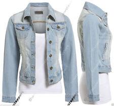 Button Waist Length Denim Coats & Jackets for Women