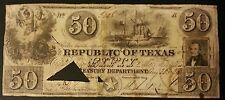 1839 $50 REPUBLIC OF TEXAS  BILL.