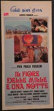 Locandina IL FIORE DELLE MILLE E UNA NOTTE 1°ED.ITAL.1974  PIER PAOLO PASOLINI