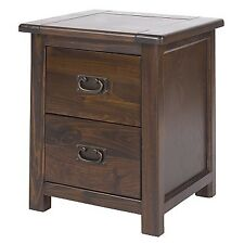 Boston dark lacquered home bedroom furniture 2 drawer bedside cabinet unit chest
