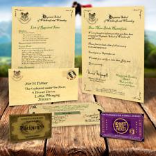 Hogwarts zulassungsschreiben - Harry Potter personalisiertes Geschenk + Express