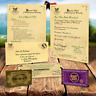 Hogwarts Acceptance Letter - Harry Potter Personalised Gift + EXPRESS TICKET!