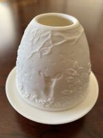 Lladro Lithophane Votive Candle Light Deer 2nd Quality