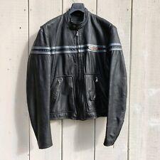 Harley Davidson Vintage Mens Leather Motorcycle Black Jacket Size Medium M