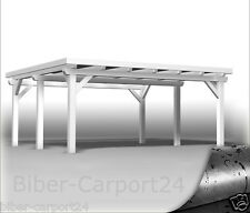 600x600cm BIBER DOPPEL-CARPORT Leimholz 6x6 Doppelcarport Holz BSH Leimbinder