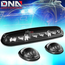 FOR 02-07 SILVERADO/SIERRA 3X BLACK CAB ROOF TOP AMBER LED MARKER LIGHTS LAMPS