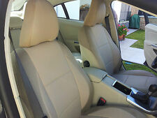 Fits S40 V40 S60 S70 C70 V70 S80 Tan Leatherette Two Front Car Seat Covers